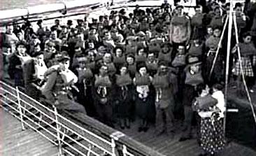 Inmigrantes italianos llegando a Comodoro