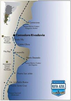 ruta azul, patagonia