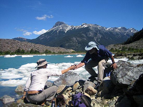 Excursión al glaciar Torrecillas, Exquel