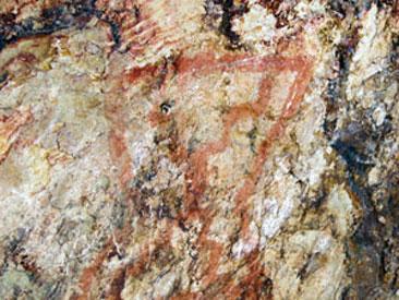 Pinturas rupestres en Gualjaina