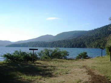 lago Hui Hui, aluminé