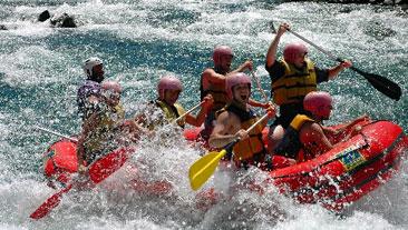 rafting, río alumine