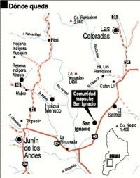 Ubicación del cultrún, San Ignacio