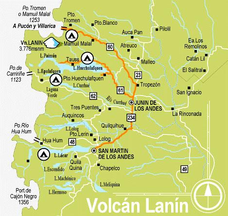 From Junín De Los Andes To Chile Junín De Los Andes Patagonia - Junin argentina map