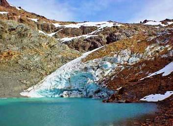glaciar hielo azul, el bolson