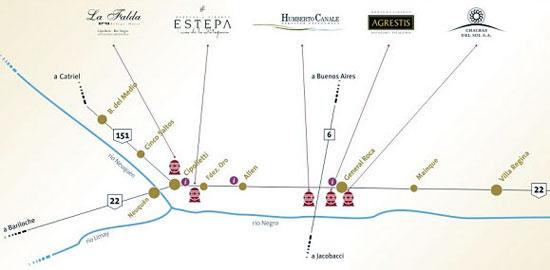 mapa ruta del vino