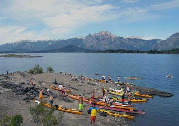 Encuentro kayak en Bariloche