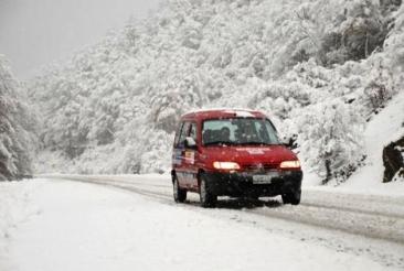nieve en la ruta