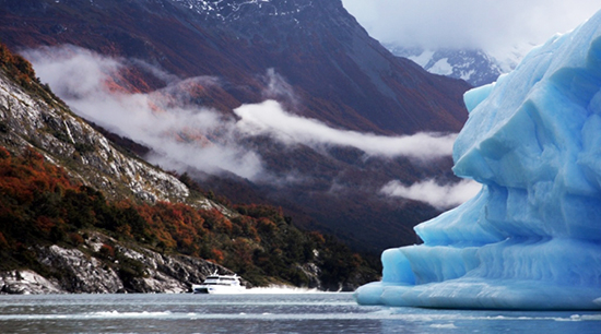 glaciar en otonio